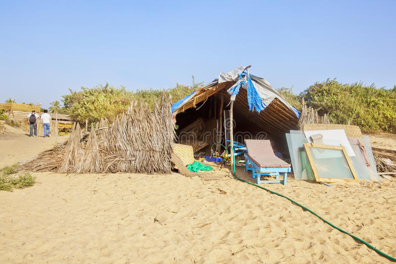 Tropical climate Beach side workshop royalty free stock images