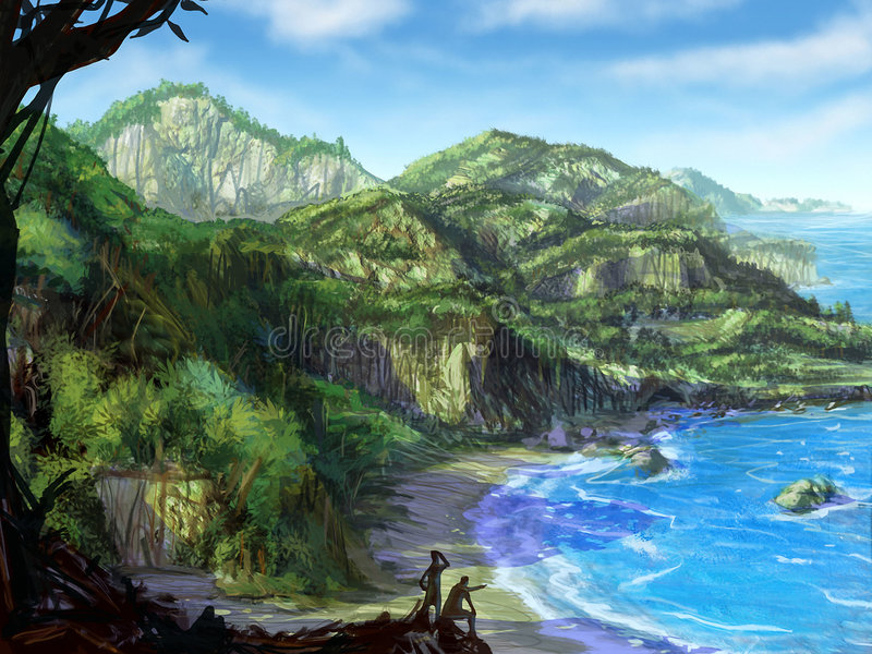 Download Tropical Coast stock illustration. Image of illustration - 1984886