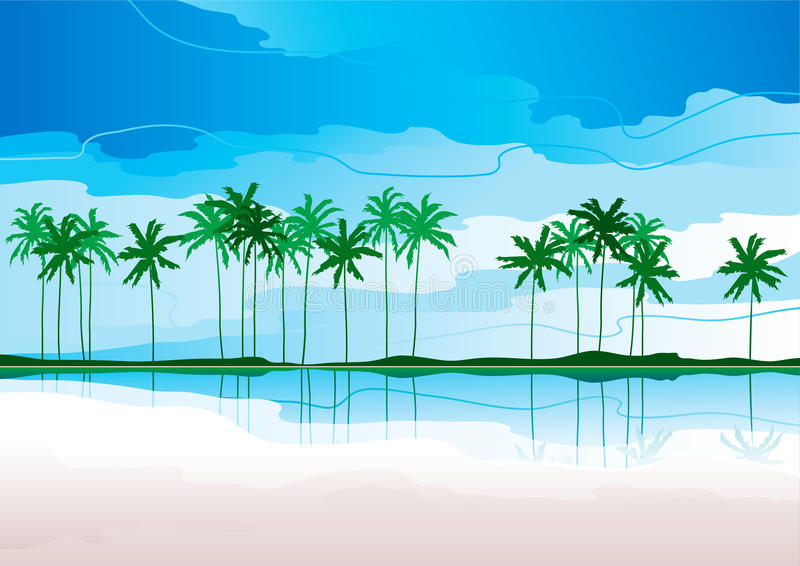 Download Tropical coast stock vector. Illustration of horizontal - 22354806