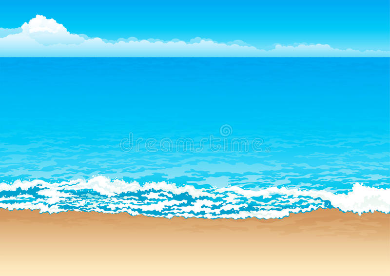Download Tropical coast stock vector. Image of spume, blurred - 22354842