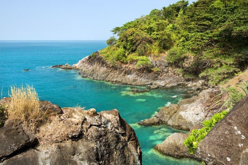 Tropical Coastline. Coastline of the Ko Chang island in Thailand stock photo