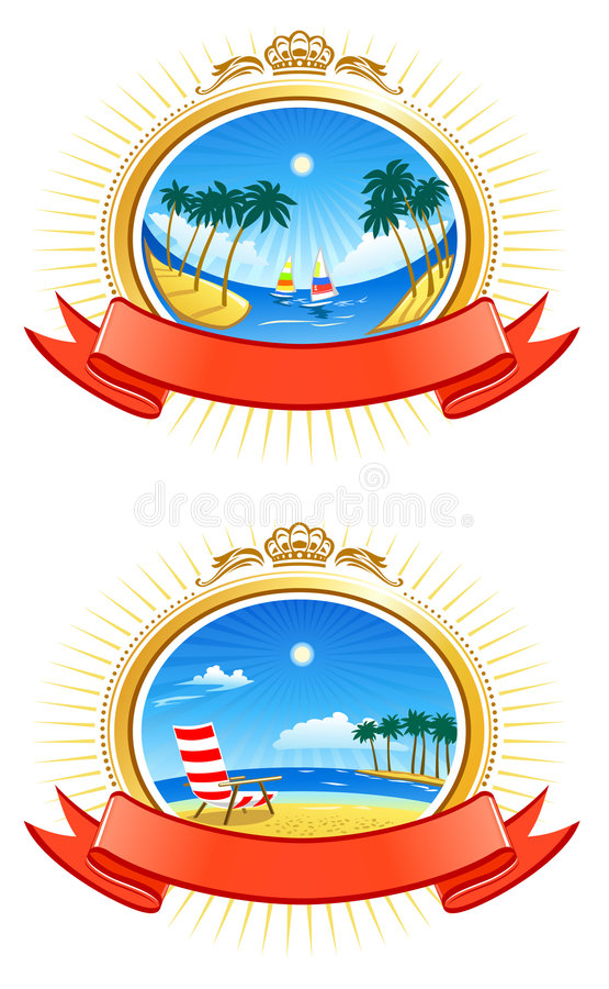 Tropical Coastline Emblems
