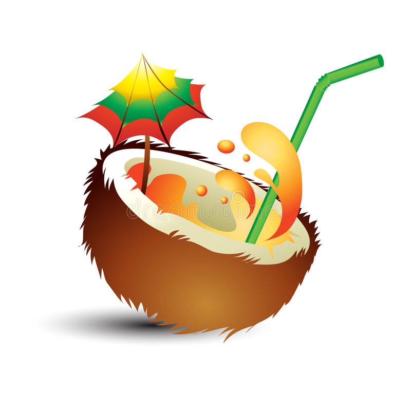 Download Tropical cocktail stock illustration. Illustration of slice - 9212788