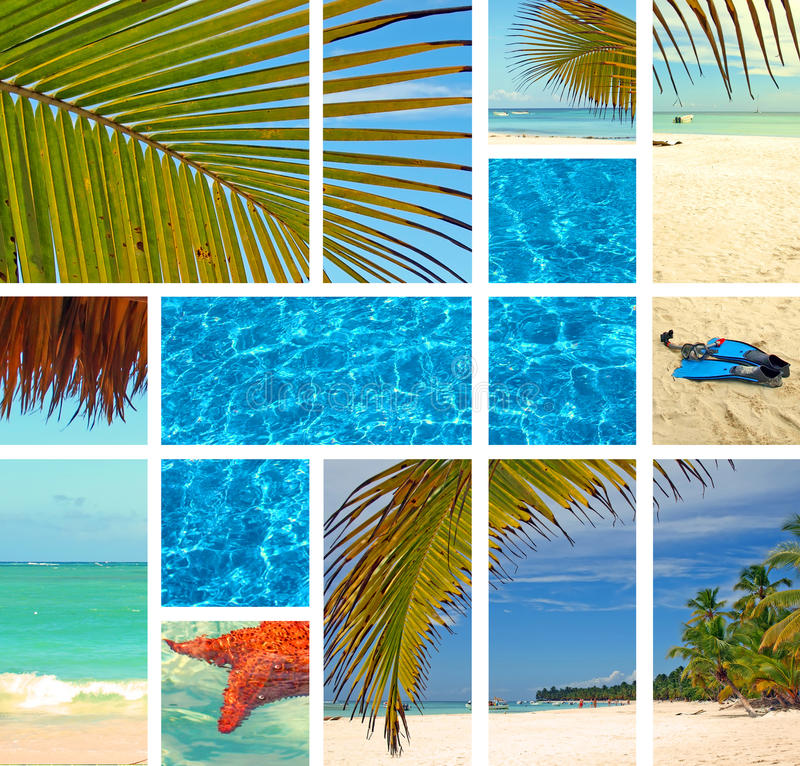 Download Tropical collage. stock photo. Image of resort, paradise - 17087988