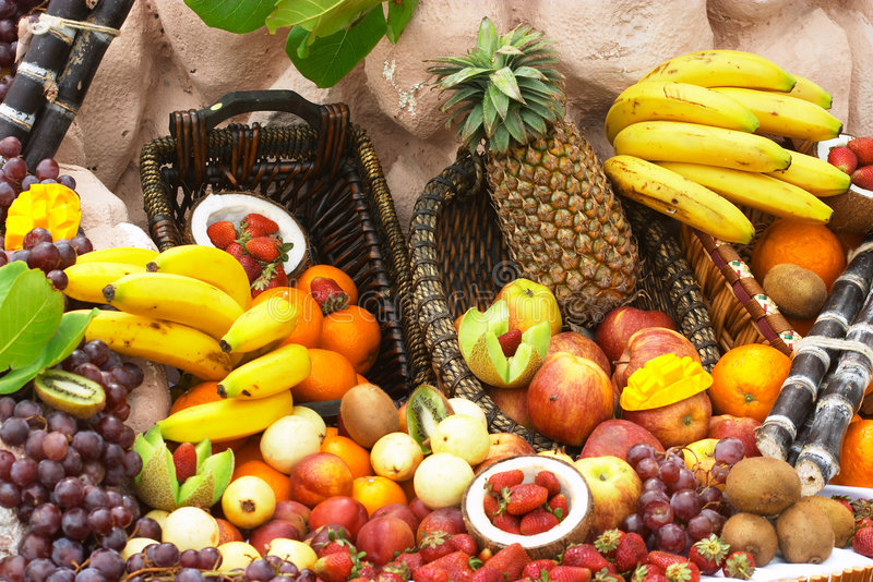 Download Tropical cornucopia stock photo. Image of fruit, apples - 32068