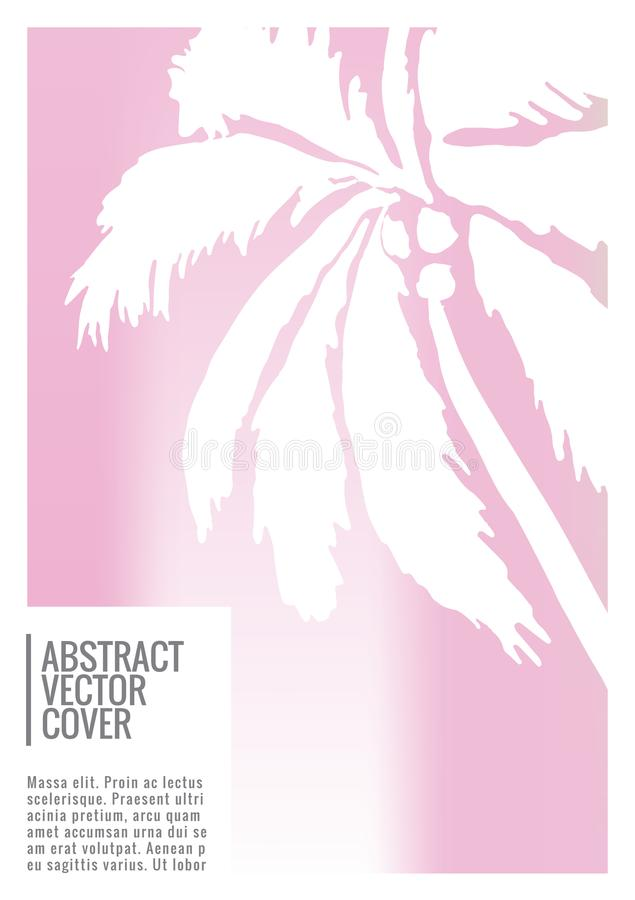 Tropical cover. Flat eco placard. vector illustration