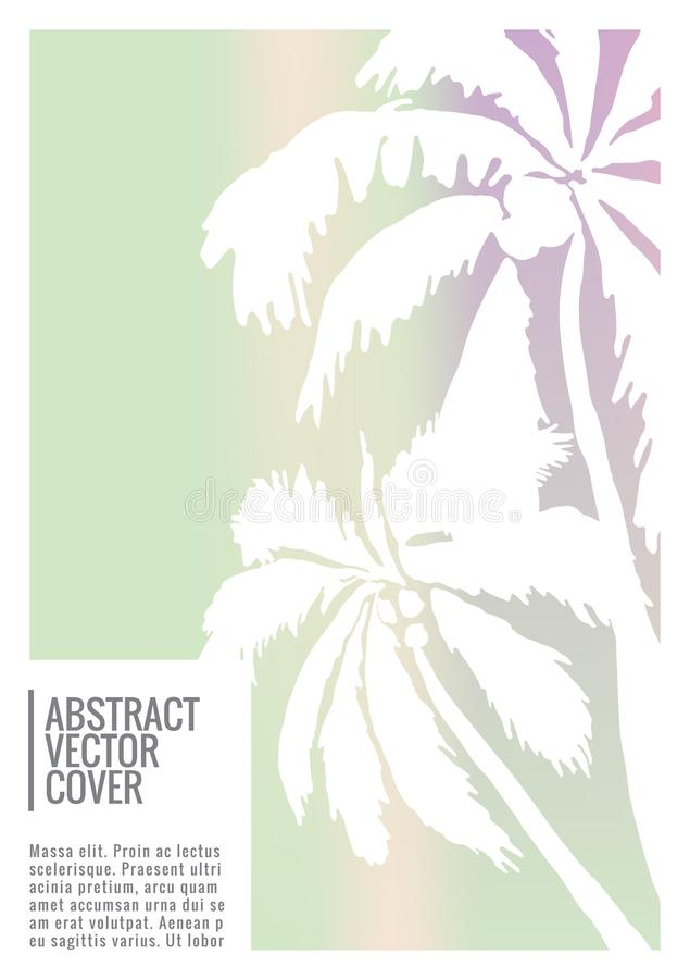 Tropical cover. Flat eco placard. stock illustration