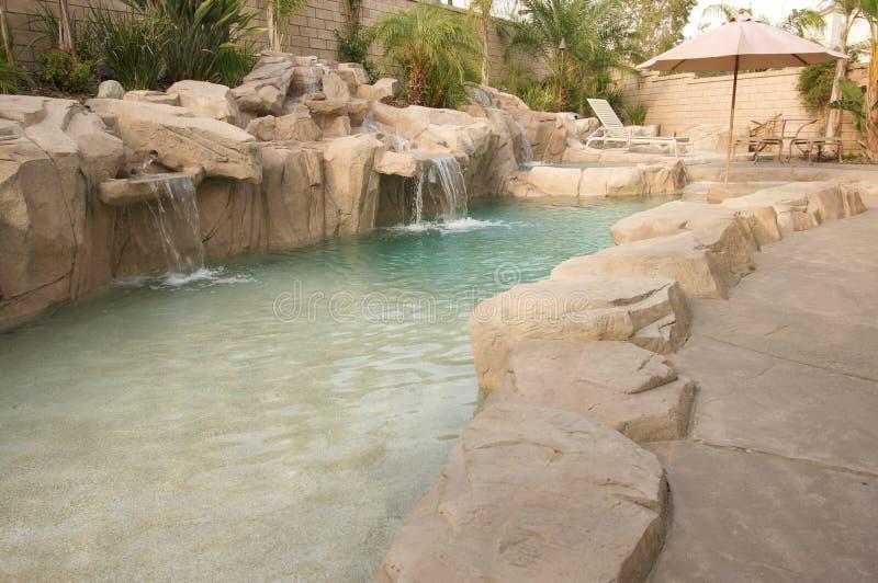 Download Tropical Custom Pool stock image. Image of swim, lounge - 5740173