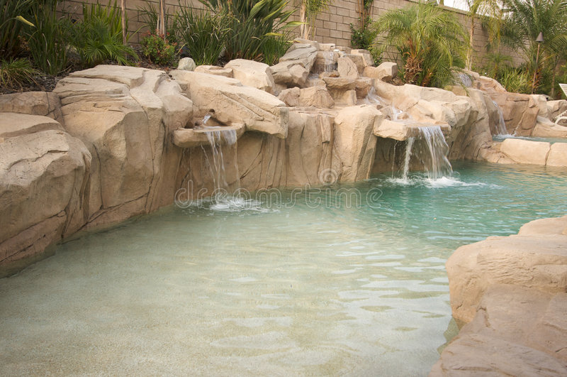 Download Tropical Custom Pool stock image. Image of reflection - 5740217
