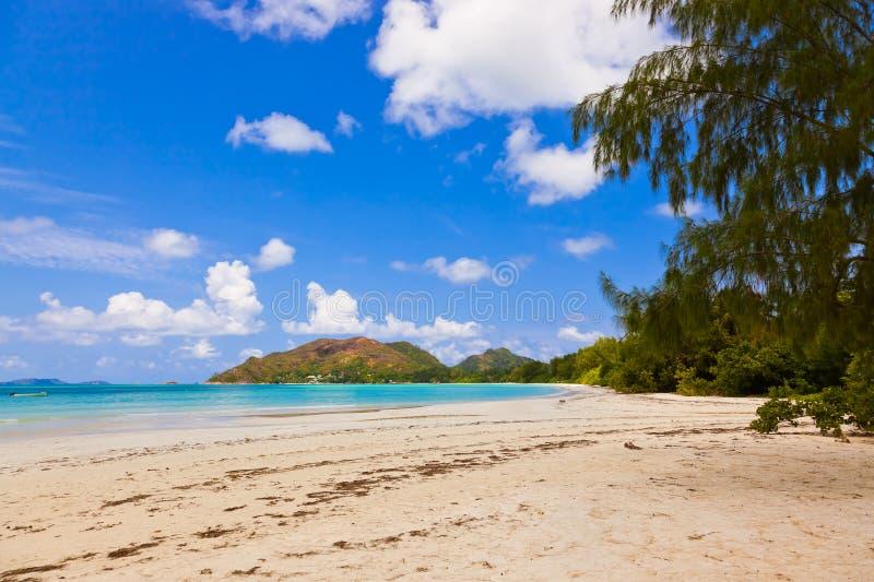 ` Tropical de Cote d de la playa o - isla Praslin Seychelles imagen de archivo libre de regalías