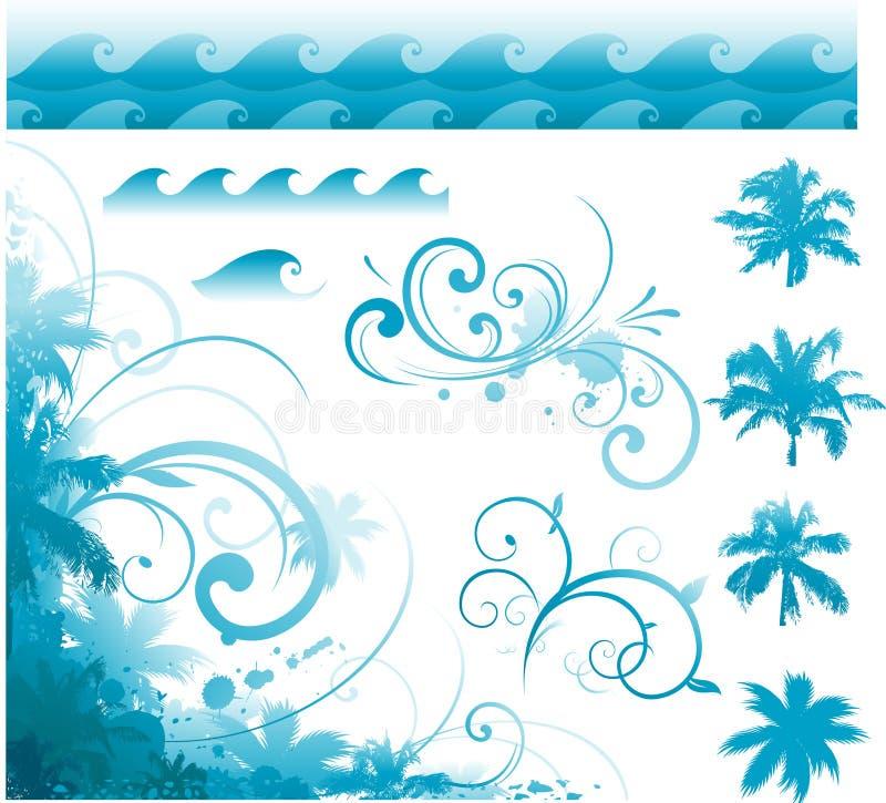 Tropical design elements. Vector illustration