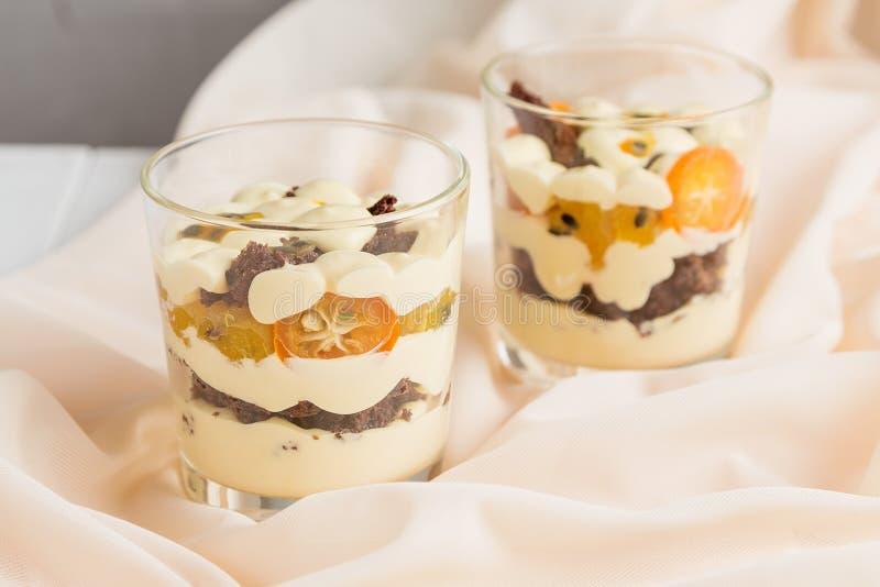 Tropical dessert in glass stock image. Image of dessert - 70335747