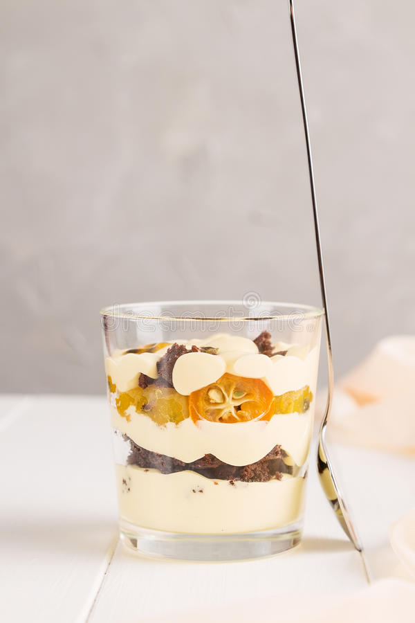 Tropical dessert in glass stock photo. Image of brunch - 70335950