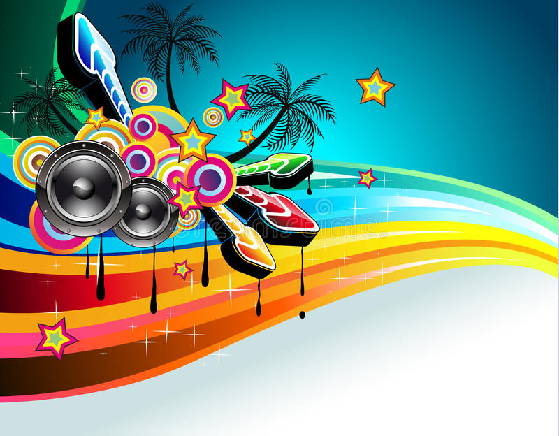 Tropical Disco Dance Background royalty free illustration