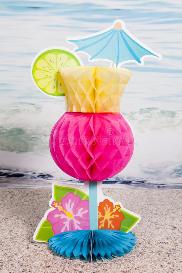 Tropical Drink. A tropical drink centerpiece for the summer season royalty free stock photo