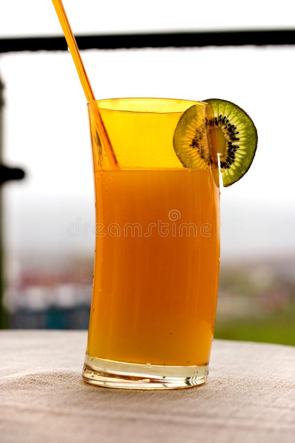 Tropical Drink With Kiwi Stock Image