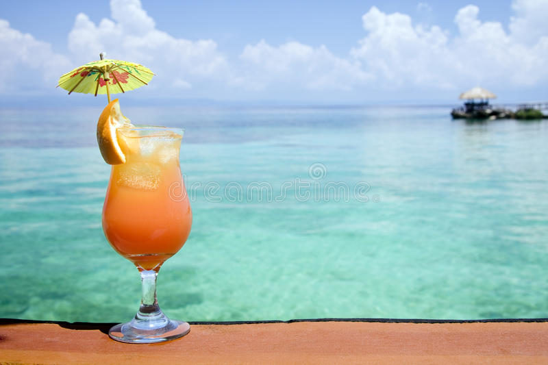 Tropical Drink Paradise Stock Image. Image Of Glass, Paper