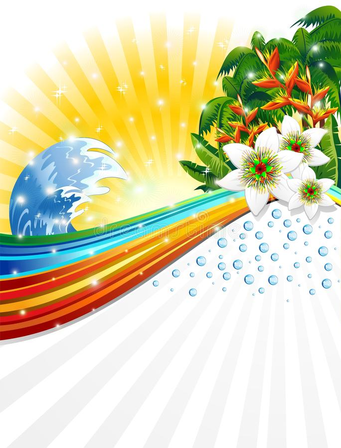 Tropical Exotic Summer Holidays Background royalty free illustration