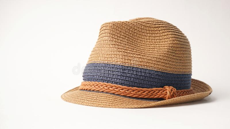 Tropical fedora hat royalty free stock photo