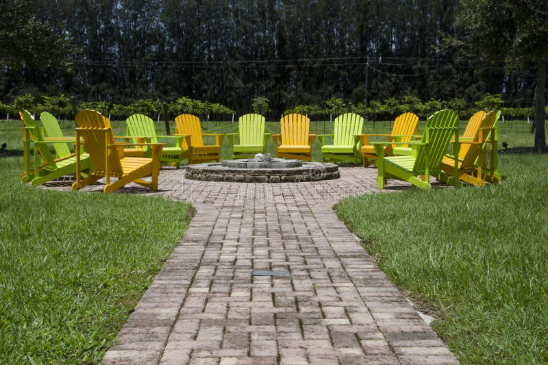 Tropical Fire Pit stock photography