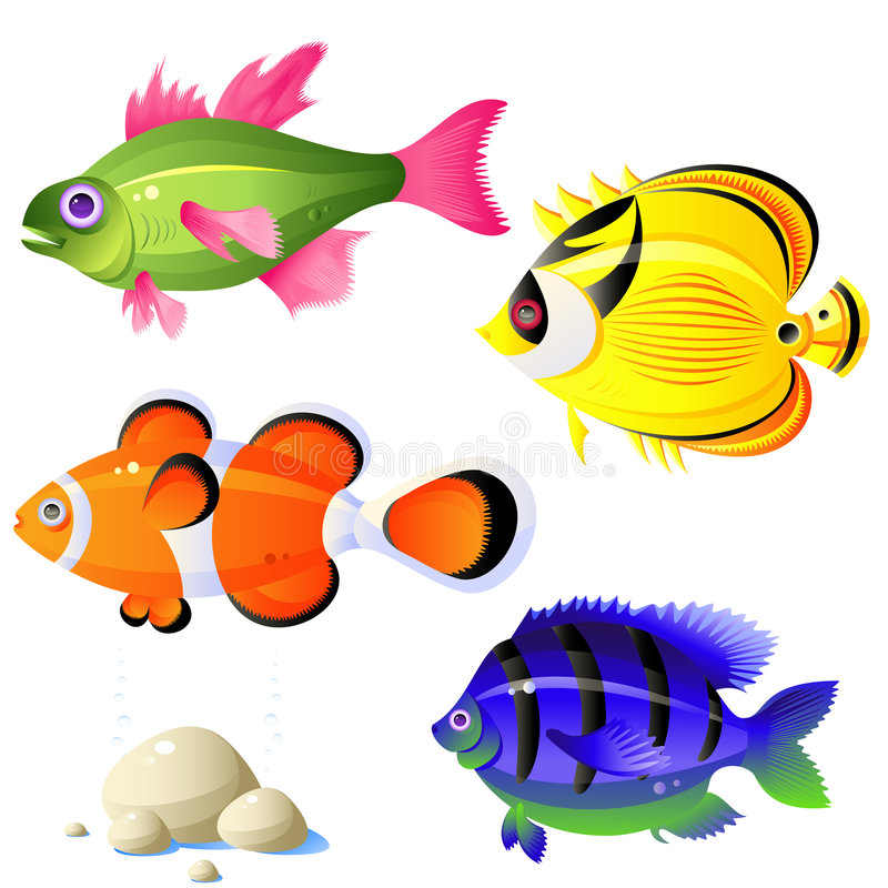 Download Tropical fish stock vector. Image of image, icon, stone - 8270588
