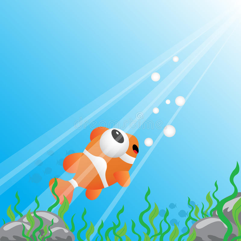 Download Tropical fish under water stock vector. Illustration of green - 26819026