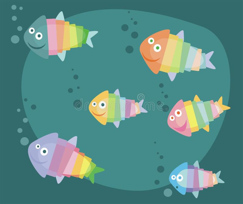 Tropical fishes vector illustration