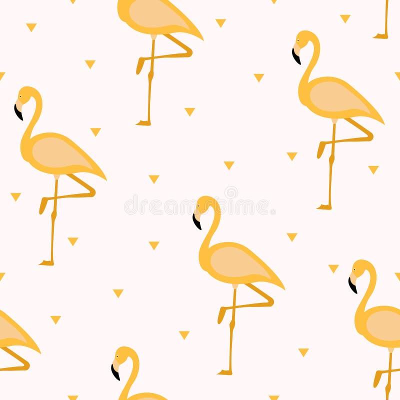 Tropical flamingo pattern. Seamless flamingo pattern. Polka dots. Vector illustration. Tropical flamingo pattern Seamless flamingo pattern. Polka dots. Vector vector illustration