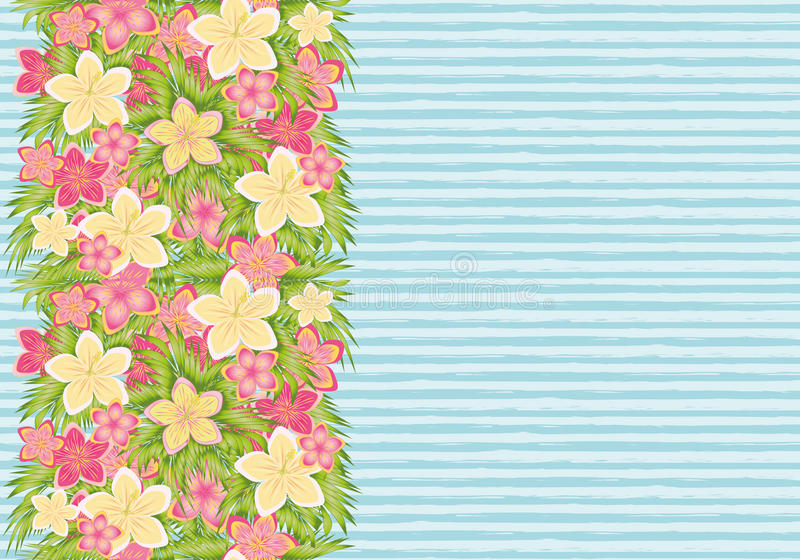 Tropical floral seamless banner, vector. Illustration royalty free illustration