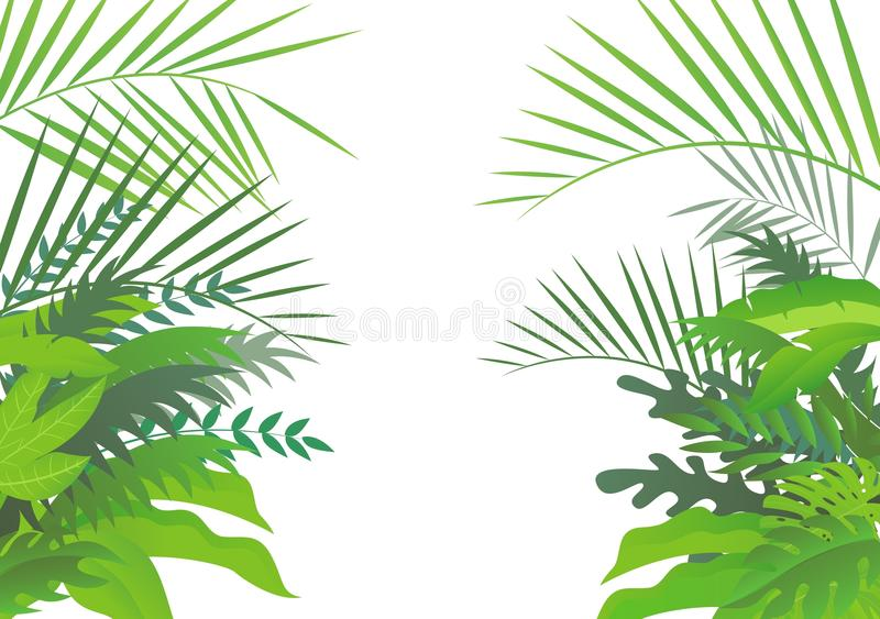 Tropical forest background vector illustration
