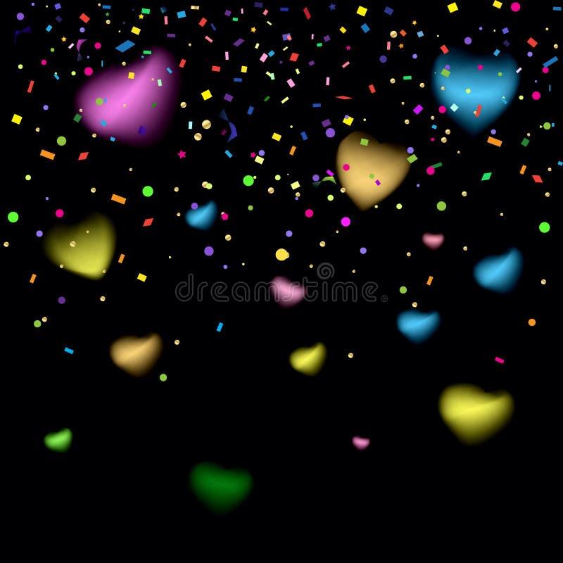 Confetti blurred abstract carnival 2020 wallpaper festival background vector vector illustration