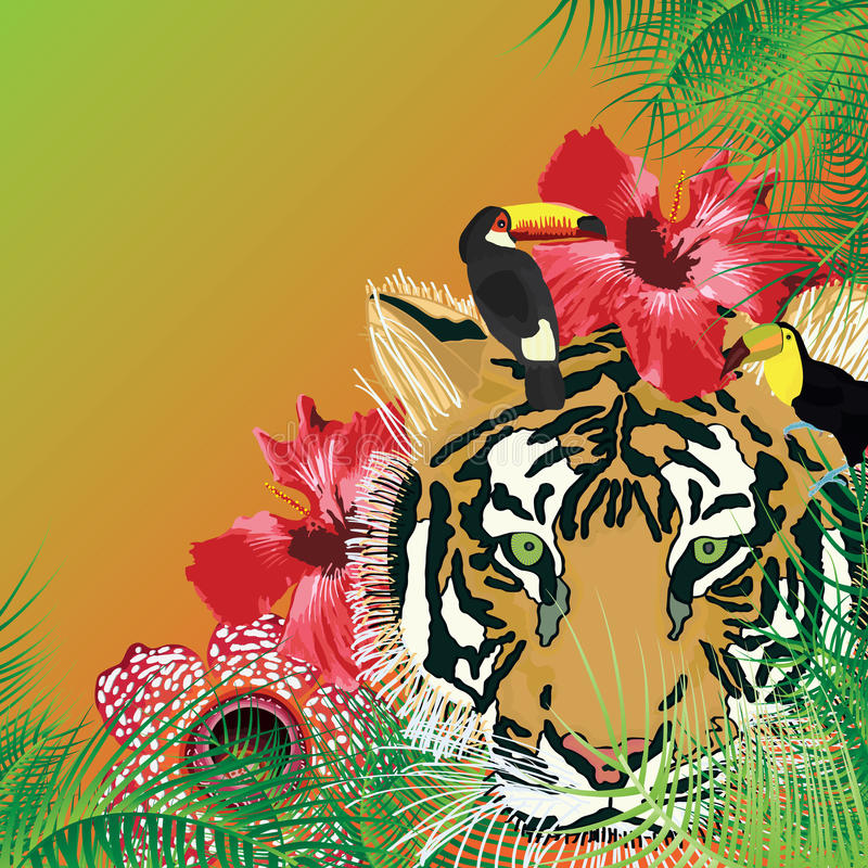 Tropical fresco salvaje stock de ilustración