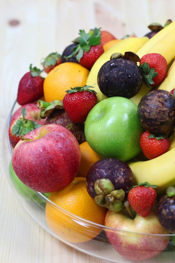 Tropical fresh fruits royalty free stock images