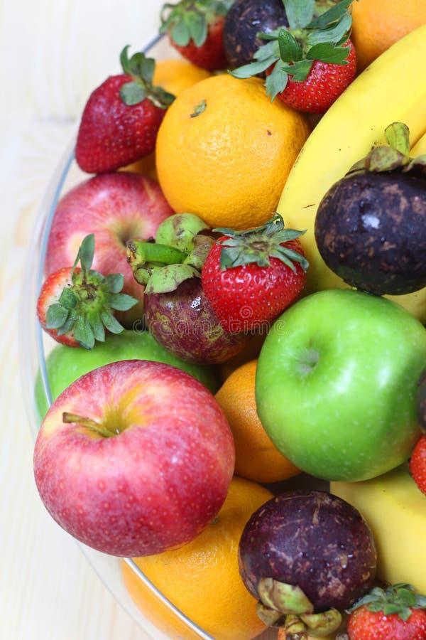 Tropical fresh fruits stock photo