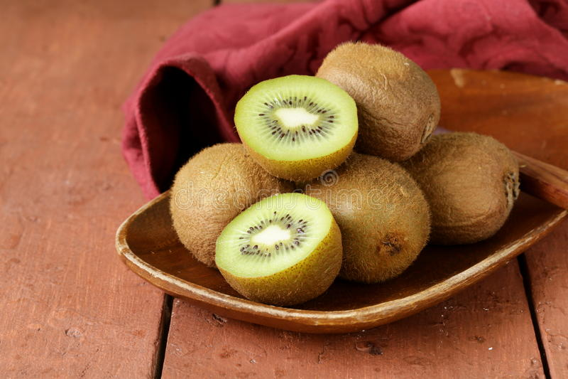 Tropical fruit fresh sweet ripe kiwi royalty free stock photo