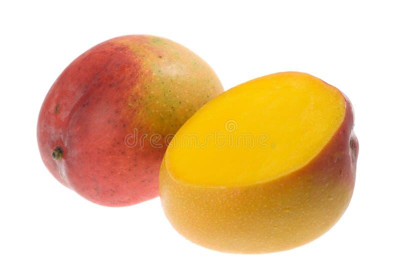 Tropical fruit - Mango. Isolated on white background stock image