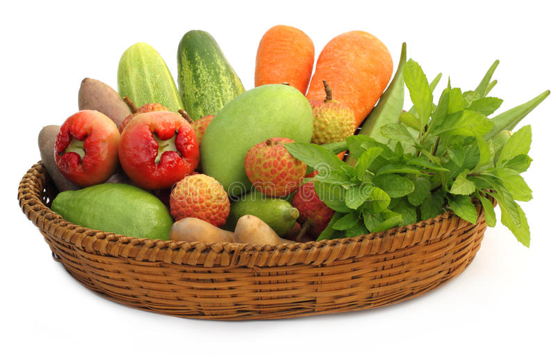 Superieur Download Tropical Fruits And Vegetables On A Basket Stock Photo   Image Of  Dessert, Fresh