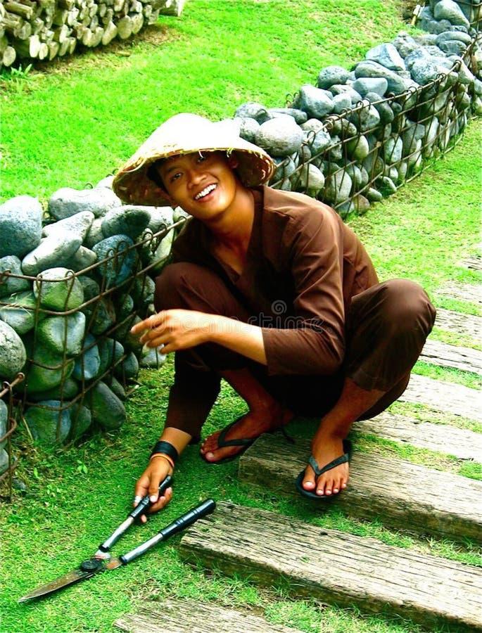 Tropical gardener royalty free stock photography