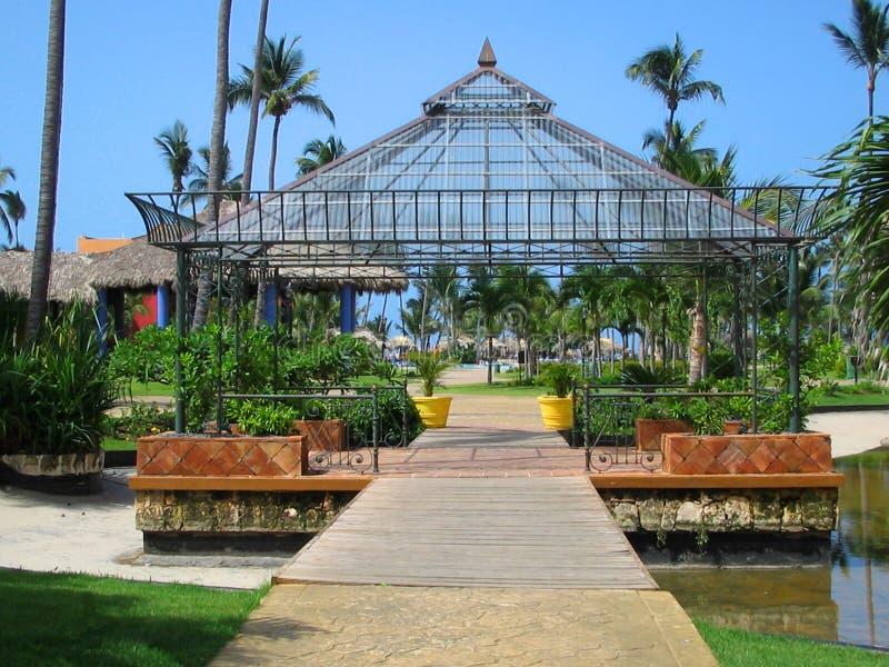 Tropical gazebo stock photography