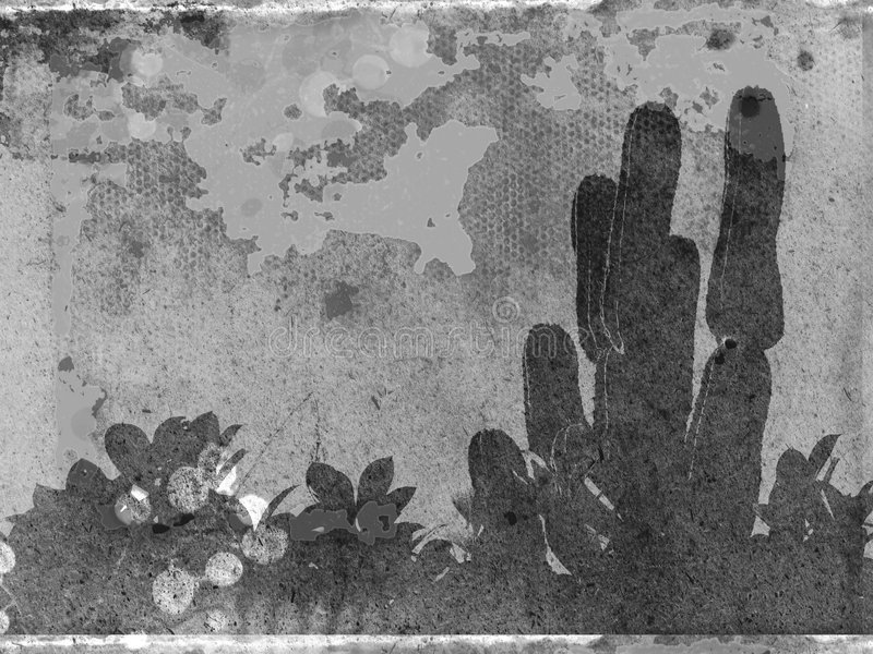 Tropical grunge gray-scale vector illustration