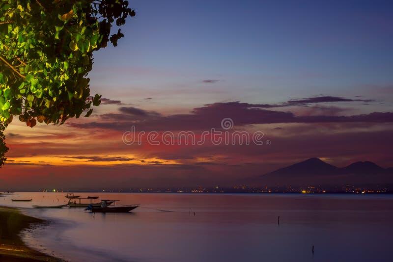 Tropical Gulf after Sunset stock photos