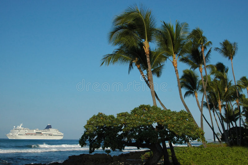 Tropical Hawaiian Cruise Ship stock photography