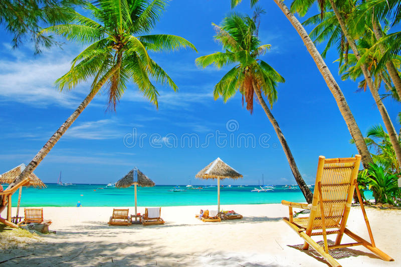 Tropical holidays stock photo
