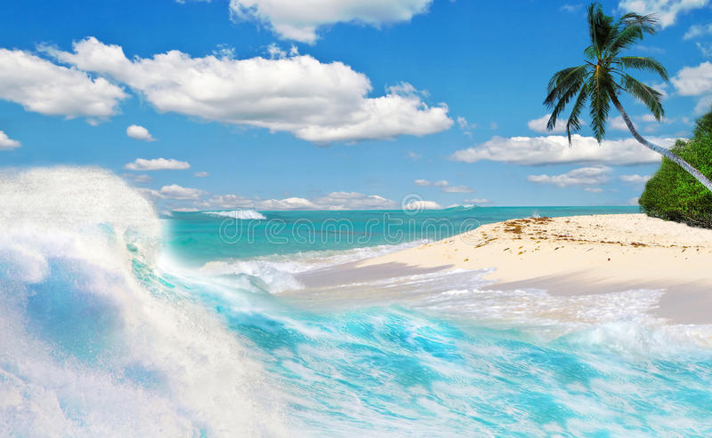 Tropical Holidays In Paradise Stock Photos