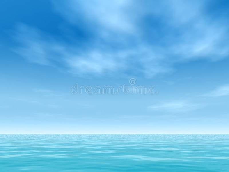 Tropical horizon royalty free stock photo