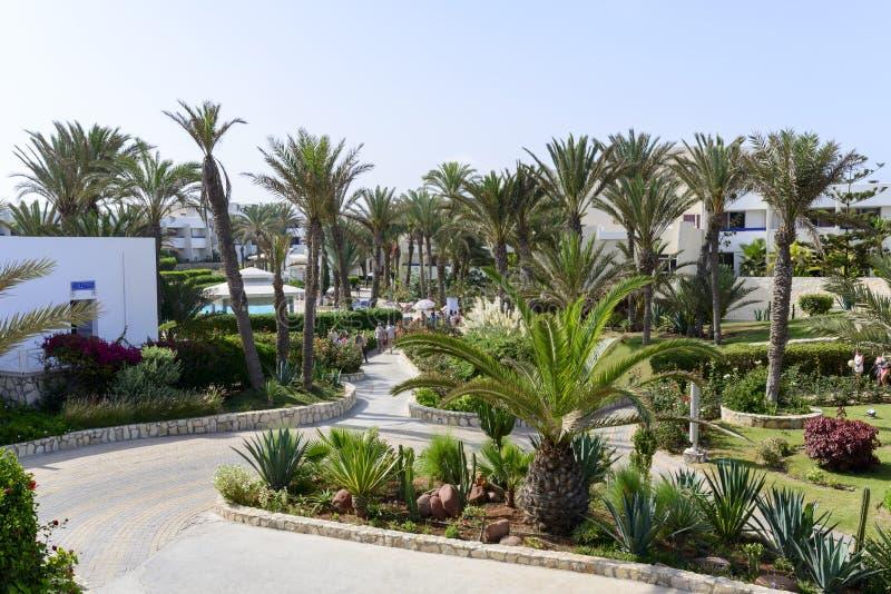 Tropical hotel on the Atlantic Ocean in Agdir. Hotel on the Atlantic Ocean in Agdir. Marocco, Africa stock photo