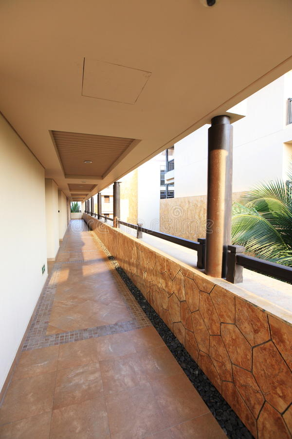 Download Tropical hotel corridor stock photo. Image of hotel, corner - 12700228