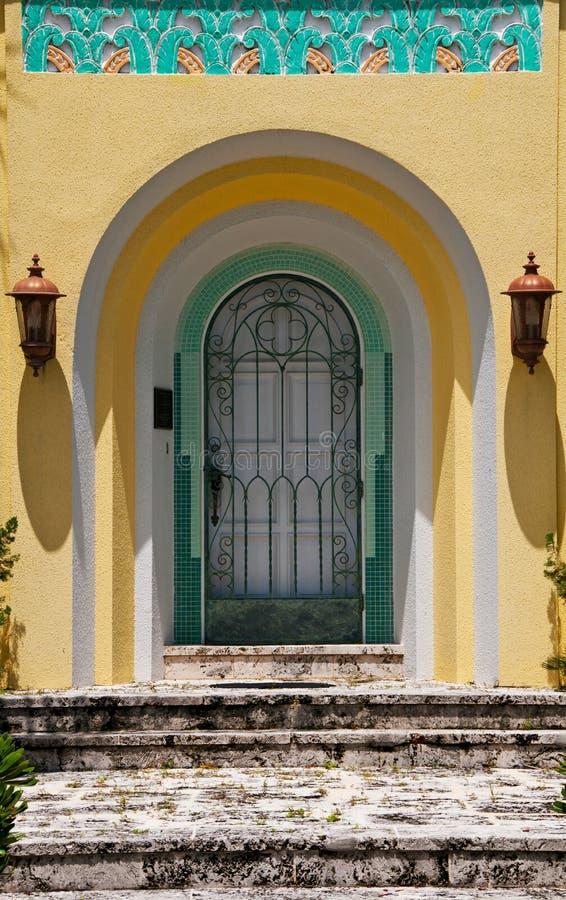 Tropical House Door stock photo