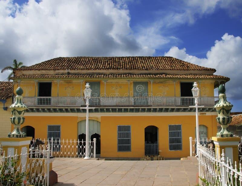 Tropical house in Trinidad, cuba stock photo