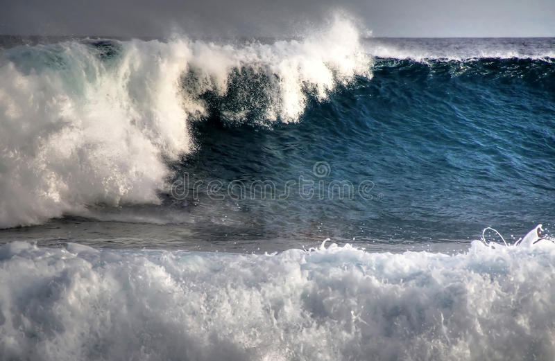 Tropical huge wave stock images